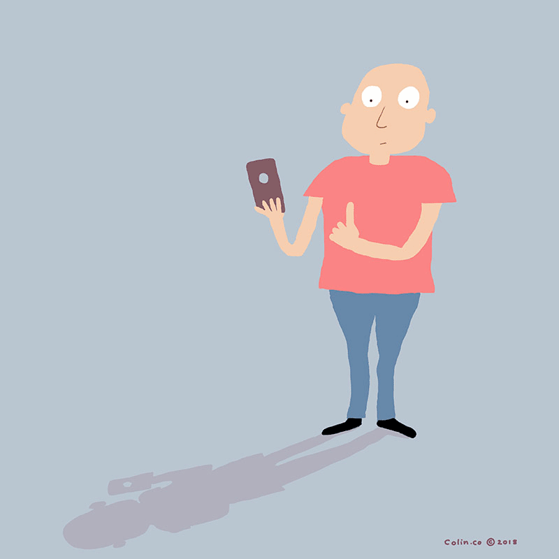 Man with mobile phone.